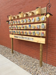 Finished birdhouse project