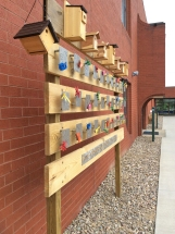 Side view of birdhouse project